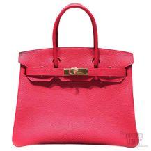 Hermes Birkin 35 Bag Rouge Piovine 2R Togo GHW