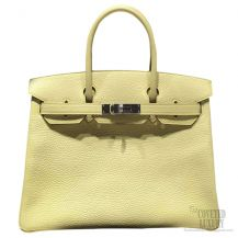 Hermes Birkin 35 Bag Jaune Poussin 1Z Togo SHW