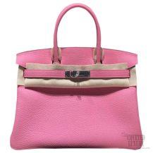 Hermes Birkin 35 Bag Pink 5P Togo SHW