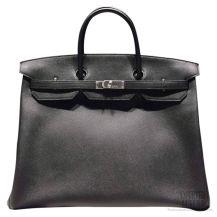 Hermes Birkin 40 Black Epsom Bag SHW