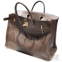 Hermes Birkin 40 Bag Bi-color Chocolat Togo GHW