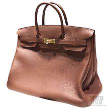 Hermes Birkin 40 Bag Brule 4g Togo GHW