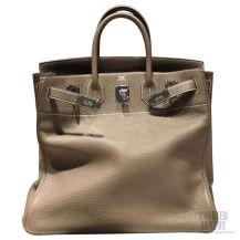Hermes Birkin Hac 40 Bag Etoupe ck18 Togo SHW