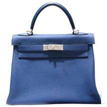 Hermes Kelly 32 Bag Blue De Galice Togo SHW