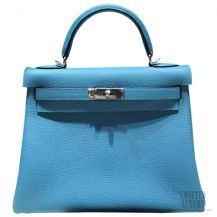 Hermes Kelly 32 Blue Paradise 7B Togo SHW