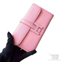 Hermes Jige Mini Clutch 1q Rose Confetti Epsom Calfskin