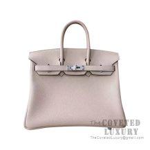 Hermes Birkin 25 Handbag CC81 Gris Tourterelle Togo SHW