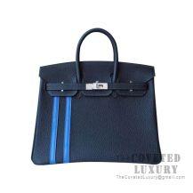 Hermes Birkin 25 Handbag 2Z Bieu Nuit And I7 Blue Zellige Togo SHW