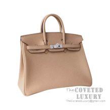 Hermes Birkin 25 Handbag CC24 Tabac Camel Togo SHW