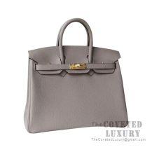 Hermes Birkin 25 Handbag M8 Gris Asphalt Togo GHW