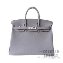 Hermes Birkin 25 Handbag M8 Gris Asphalt Togo SHW