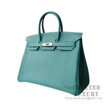 Hermes Birkin 25 Handbag Z6 Malachite Togo SHW