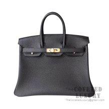 Hermes Birkin 25 Handbag 89 Noir Togo GHW