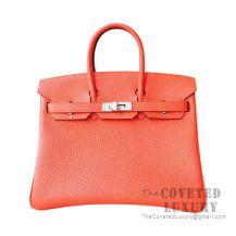 Hermes Birkin 30 Bag 8V Orange Poppy Togo SHW