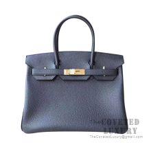 Hermes Birkin 30 Bag 89 Noir Togo GHW