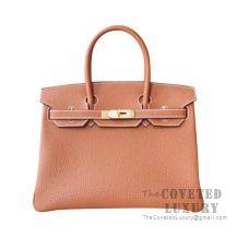 Hermes Birkin 30 Bag CC37 Gold Togo GHW
