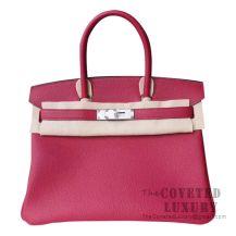 Hermes Birkin 30 Bag K1 Rouge Grenat Togo SHW