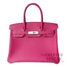 Hermes Birkin 30 Bag L3 Rose Purple Togo SHW