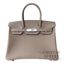 Hermes Birkin 30 Bag M8 Gris Asphalt Togo SHW