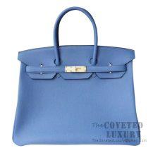 Hermes Birkin 30 Bag R2 Blue Agate Togo GHW