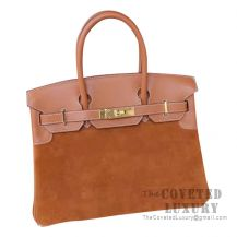 Hermes Birkin 30 Bag CC37 Gold Grizzly And Swift GHW