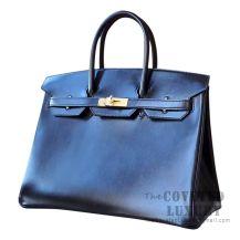 Hermes Birkin 35 Bag 89 Noir Box GHW