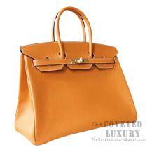 Hermes Birkin 35 Bag 1H Toffee Epsom GHW