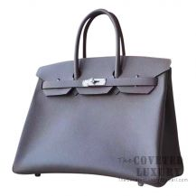 Hermes Birkin 35 Bag 8F Etain Epsom SHW