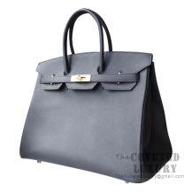Hermes Birkin 35 Bag 89 Noir Epsom GHW