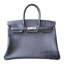 Hermes Birkin 35 Bag 89 Noir Togo SHW