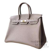 Hermes Birkin 35 Bag CC18 Etoupe Togo GHW