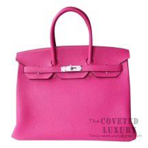 Hermes Birkin 35 Bag L3 Rose Purple Togo SHW