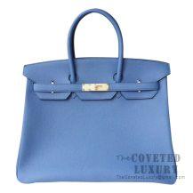 Hermes Birkin 35 Bag R2 Blue Agate Togo GHW