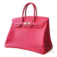 Hermes Birkin 35 Bag S5 Rouge Tomate Togo GHW