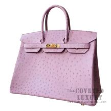 Hermes Birkin 35 Bag Lilas Ostrich GHW