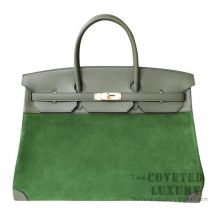 Hermes Birkin 40 Bag V6 Canopee Swift And Grizzly GHW