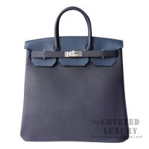 Hermes Birkin Hac 40 Bag 2Z Bieu Nuit And N7 Blue Tempete And 3P Blue Atoll Togo SHW