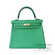 Hermes Kelly 25 Handbag 1K Bamboo Togo GHW