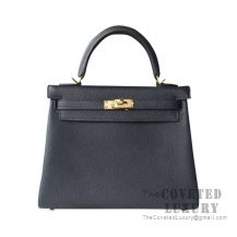 Hermes Kelly 25 Handbag 6O Vert Cypres Togo GHW