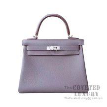 Hermes Kelly 25 Handbag 8F Etain Togo SHW