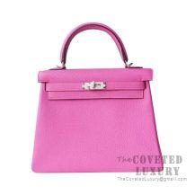 Hermes Kelly 25 Handbag 9I Magnolia Togo SHW