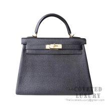 Hermes Kelly 25 Handbag 89 Nior Togo GHW