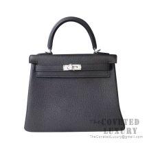 Hermes Kelly 25 Handbag 89 Nior Togo SHW