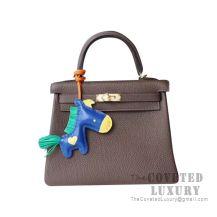 Hermes Kelly 25 Handbag CC16 Taupe Togo GHW