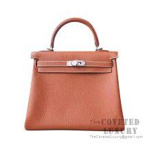 Hermes Kelly 25 Handbag CC37 Gold Togo SHW