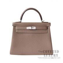 Hermes Kelly 25 Handbag CK18 Etoupe Togo SHW
