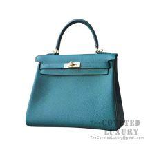 Hermes Kelly 25 Handbag Z6 Malachite Togo GHW