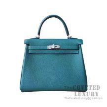 Hermes Kelly 25 Handbag Z6 Malachite Togo SHW