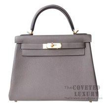 Hermes Kelly 28 Handbag 8F Etain Togo GHW