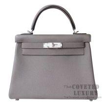 Hermes Kelly 28 Handbag 8F Etain Togo SHW